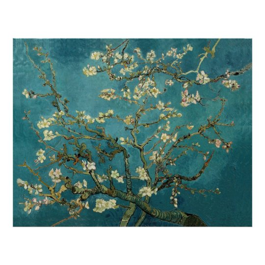 Van Gogh Blossoming Almond Tree Vintage Fine Art