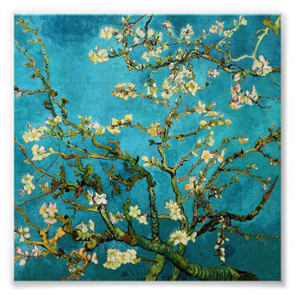 Van Gogh Blossoming Almond Tree Vintage Fine Art Print