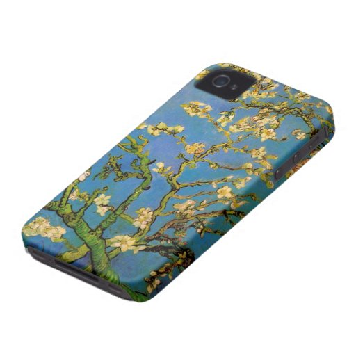 Van Gogh; Blossoming Almond Tree, Vintage Flowers iPhone 4 Cover