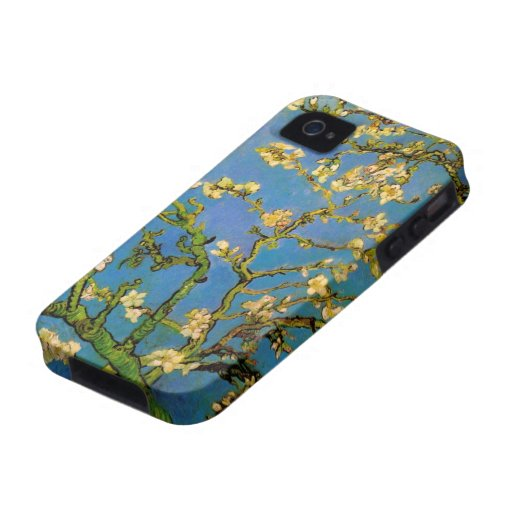 Van Gogh; Blossoming Almond Tree, Vintage Flowers Case-Mate iPhone 4 Cover