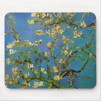 Van Gogh Blossoming Almond Tree Vintage Flowers Mouse Pads