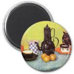 Van Gogh Blue Enamel Coffeepot, Earthenware, Fruit