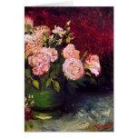 Van Gogh Bowl Peonies & Roses (F249) Fine Art