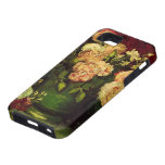 Van Gogh; Bowl with Peonies and Roses iPhone 5 Case