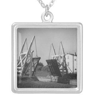 Van Gogh Bridge, Arles, c.1850-1960 Silver Plated Necklace