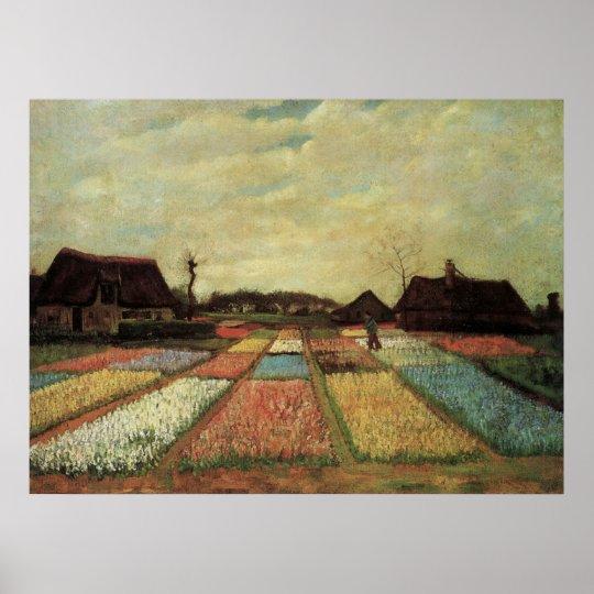 Van Gogh Bulb Fields, Vintage Landscape Fine Art Poster