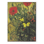 Van Gogh Butterfly Poppies Flowers Peace Destiny