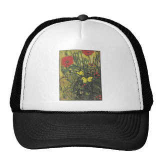 Van Gogh Butterfly Poppies Flowers Peace Destiny Hats
