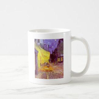 Van Gogh Cafe Impressionist Painting Basic White Mug
