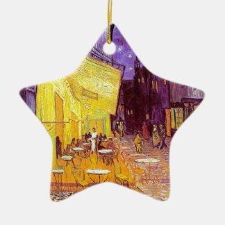 Van Gogh Cafe Impressionist Painting Ceramic Star Decoration