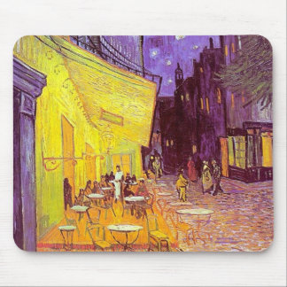 Van Gogh Cafe Impressionist Painting Mouse Mat