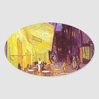 Van Gogh Cafe Impressionist Painting Sticker