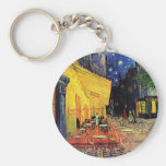 Van Gogh Cafe Terrace At Night Basic Round Button Key Ring