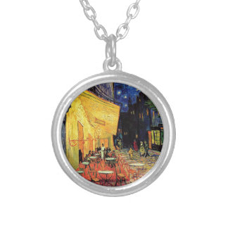 Van Gogh Cafe Terrace At Night Personalized Necklace