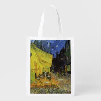 Van Gogh; Cafe Terrace at Night Reusable Grocery Bag