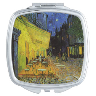 Van Gogh; Cafe Terrace at Night Travel Mirrors