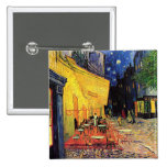 Van Gogh; Cafe Terrace at Night, Vintage Fine Art Buttons