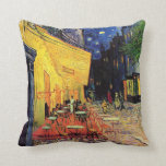 Van Gogh; Cafe Terrace at Night, Vintage Fine Art Throw Pillow