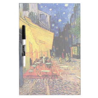 Van Gogh, Cafe Terrace at Night, Vintage Fine Art Dry-Erase Whiteboards