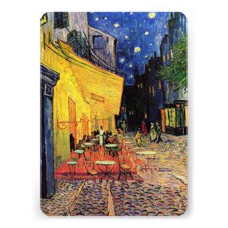 Van Gogh; Cafe Terrace at Night, Vintage Fine Art Custom Invite