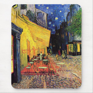 Van Gogh Cafe Terrace (F467)  Fine Art Mouse Pad