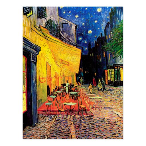 Van Gogh Cafe Terrace (F467) Vintage Fine Art Postcard
