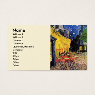 Van Gogh Cafe Terrace on Place du Forum, Fine Art Business Card