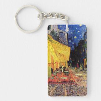 Van Gogh Cafe Terrace on Place du Forum, Fine Art Double-Sided Rectangular Acrylic Key Ring