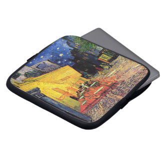 Van Gogh Cafe Terrace on Place du Forum, Fine Art Laptop Sleeve