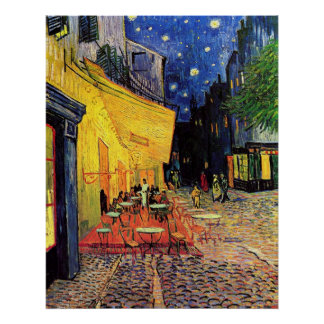 Van Gogh Cafe Terrace on Place du Forum, Fine Art Poster