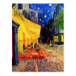 Van Gogh Cafe Terrace Vintage Fine Art Postcards
