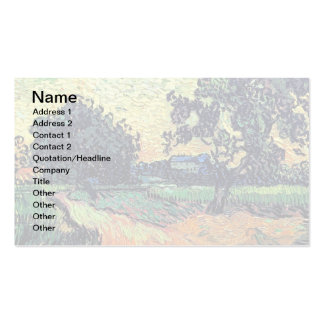 Van Gogh - Chateau Of Auvers At Sunset Business Card