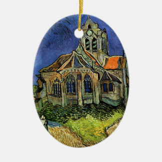 Van Gogh Church at Auvers, Vintage Architecture Christmas Ornament