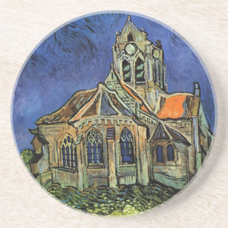 Van Gogh Church at Auvers, Vintage Architecture Coaster