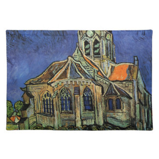 Van Gogh Church at Auvers, Vintage Architecture Placemat