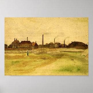 Van Gogh - Coalmine in the Borinage Poster