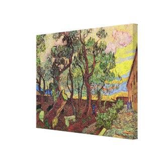 Van Gogh Corner of Saint-Paul Hospital and Garden Gallery Wrapped Canvas