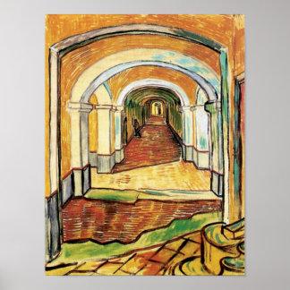 Van Gogh - Corridor Of Saint Paul Hospital Poster
