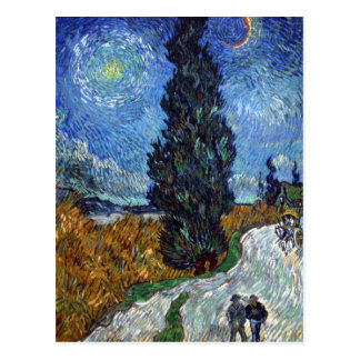 Van Gogh- Country Road in Provence by Night Postcard
