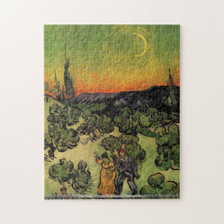 van Gogh - Couple Walking and Crescent Moon Puzzle