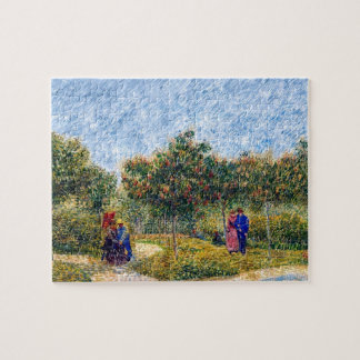 Van Gogh - Couples In The Park At Asnieres Jigsaw Puzzle
