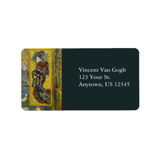 Van Gogh Courtesan after Eisen Label