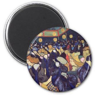 Van Gogh - Dance Hall In Arles 6 Cm Round Magnet