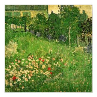 Van Gogh Daubigny's Garden, Vintage Fine Art 13 Cm X 13 Cm Square Invitation Card