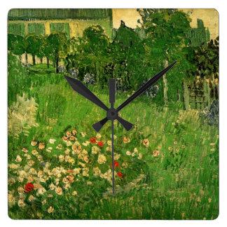 Van Gogh Daubigny's Garden, Vintage Fine Art Square Wall Clock