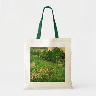 Van Gogh Daubigny's Garden, Vintage Flowers Art Canvas Bags