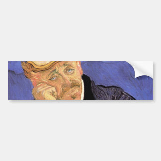 Van Gogh, Doctor Gachet, Vintage Impressionism Art Car Bumper Sticker