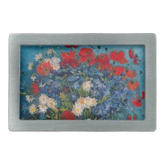 Van Gogh & Elizabeth Flower (Change Shape) - Rectangular Belt Buckles