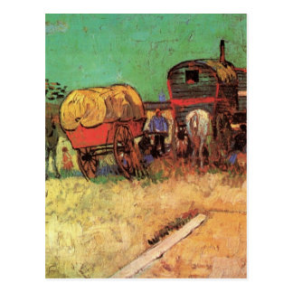 Van Gogh; Encampment of Gypsies with Caravans Postcard