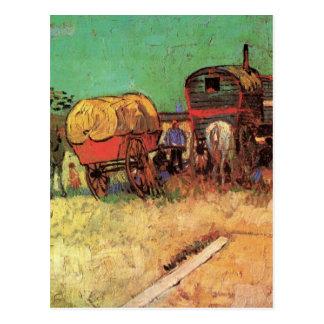 Van Gogh Encampment of Gypsies with Caravans Postcard